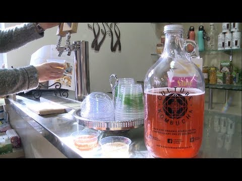 How much alcohol is in the fermented drink kombucha?