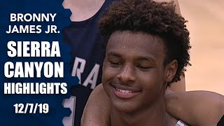 Bronny James throws down alley-oop in epic Sierra Canyon dunk fest | Prep Highlights