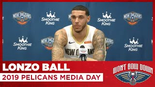Lonzo Ball Interview from 2019 Pelicans Media Day | New Orleans Pelicans
