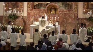 Complete Easter 2015 Solemn Traditional Latin High Mass in HD with Gregorian Chant propers