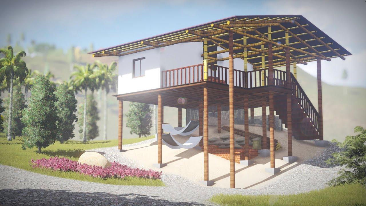 Casa moderna ind gena embera cham katio youtube for Casa moderna 2014 espositori