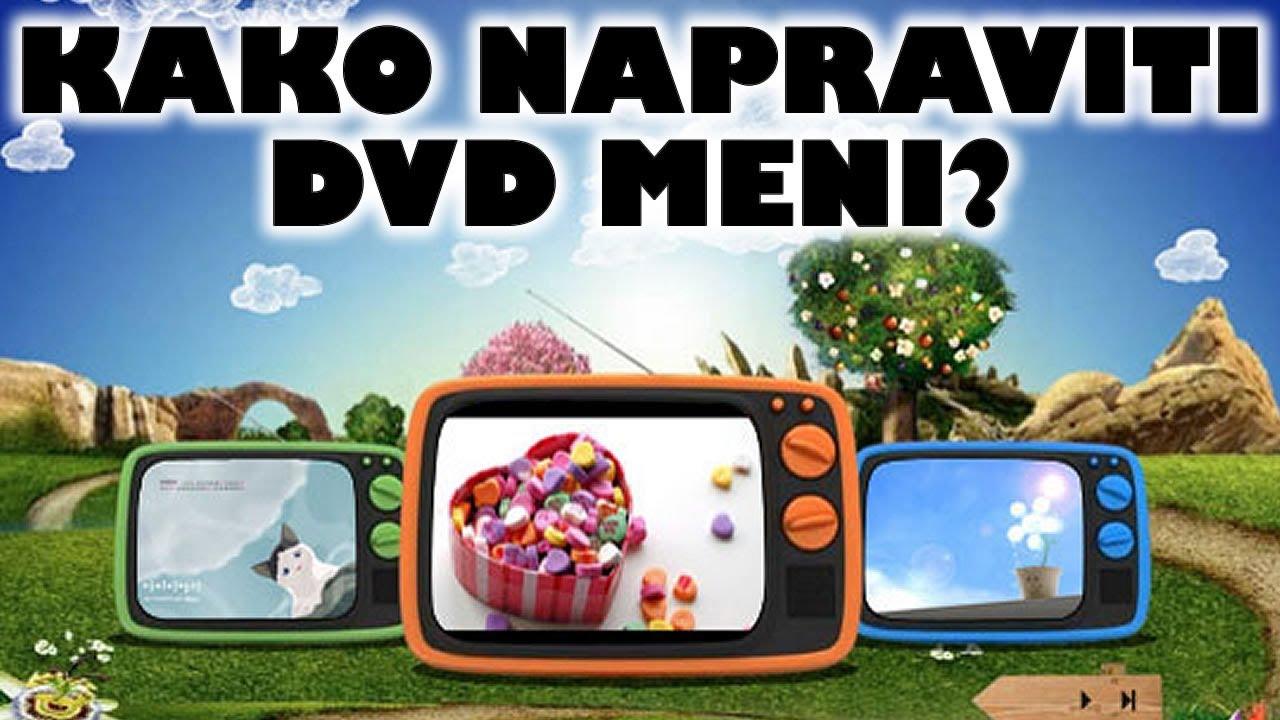 Kako napraviti DVD meni (win7)? - YouTube