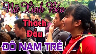 Female wrestling with men - Phu Lac Pagoda - Thai Binh City