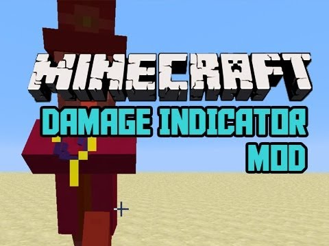 Minecraft: Damage Indicator Mod