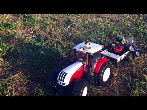 BRUDER Трактор. Игрушки для детей. Открываем коробку и играем. Спецтехника, tractor. BRUDER Toy