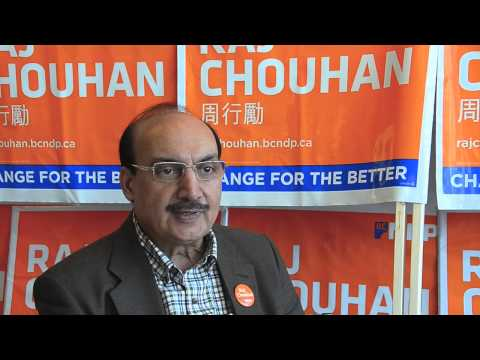 Raj Chouhan, B.C. NDP candidate for the Burnaby-Edmonds riding