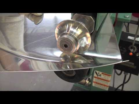 Stainless Steel Panel in the Bead Roller