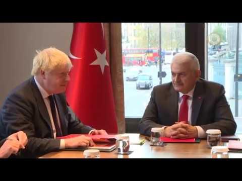 Başbakan Yıldırım, İngiltere Dışişleri Bakanı Johnson İle Görüştü