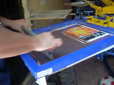 Serigrafia aplicacion de foil