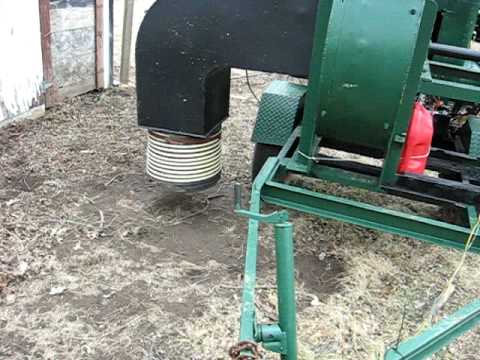 Cyclone Rake For Sale >> Large leaf vacuum for sale - YouTube