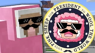 PINK SHEEP RUNS FOR PRESIDENT
