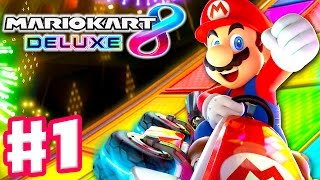 Mario Kart 8 Deluxe - Gameplay Walkthrough Part 1 - Mushroom Cup 50cc 100cc! (Nintendo Switch)