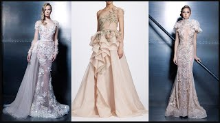 Latest New Evening Wedding Party wear Long Gown designs Prom Dresses | Fashion style - Haute Couture