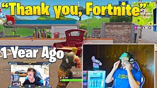 Ninja Gets Emotional when Reacting to His FIRST Game of Fortnite!