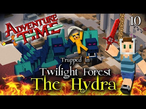 Adventure Time Minecraft : TRAPPED IN TWILIGHT FOREST Ep 10 The Hydra Boss Battle