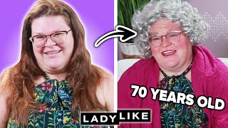 We Try Aging Ourselves By 40 Years With Makeup • Ladylike