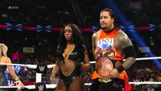 WWE RAW Naomi & Jimmy Uso vs Natalya & Tyson Kidd