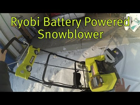 Ryobi Battery Powered Snowblower Review