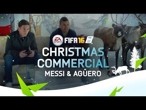 Messi y Agüero la rompieron en un comercial navideño de un videojuego