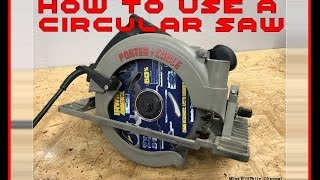 How To use a CIRCULAR SAW - Tips for Beginners and Experienced Users