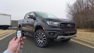 2019 Ford Ranger Lariat FX-4: Start Up, Walkaround, Test Drive and Review