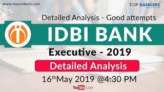 Exam Analysis IDBI Executive 2019 | Paper pattern | Good Attempts | Cut off | by Nitesh sir