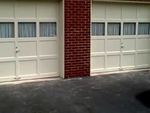 Repair garage door panels don 39 t replace them youtube for Replacement wooden doors