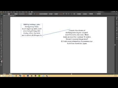 Adobe Illustrator CS6 for Beginners - Tutorial 65 - How to Thread Overflow Text