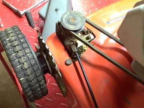 Small Engine Repair: Inspecting the Drive System on a Scotts Self Propelled Walk Behind Lawn Mower