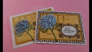 Stampin' Up! meets Heartfelt Creations Hydrangea Thank you card