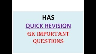 HP HAS  MOST IMPORTANT QUESTIONS 2019   GK QUICK REVISION  QUESTIONS