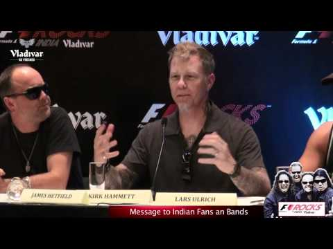 Metallica's message to Indian Fans and Indian Bands