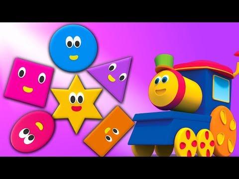 Bob o trem forma canção em português aprender formas geométricas Shapes Song Educational Song