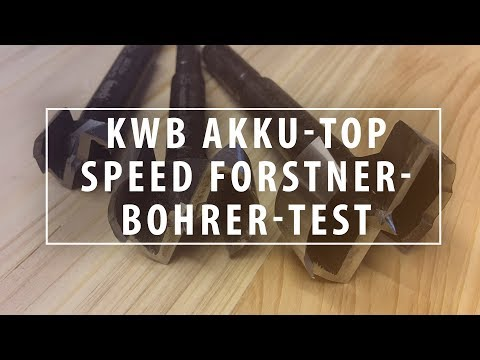 Test: KWB Akku-Top Speed Forstnerbohrer