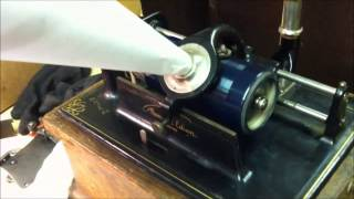 Thomas Edison's Electric Light Bulb Band Video - EDISON FIRESIDE Model 'A' Cylinder Record Player - IT WORKS!