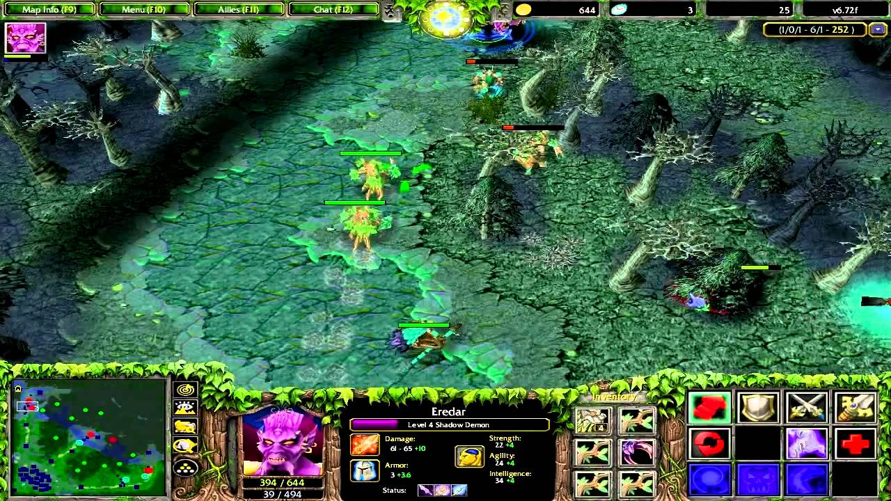 Lets Play DOTA Match Eredar Shadow Demon Gameplay Part