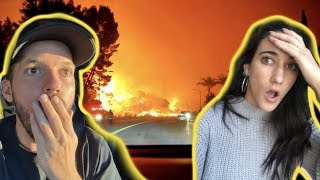 EVACUATING THE WILD FIRE!! (INTENSE)