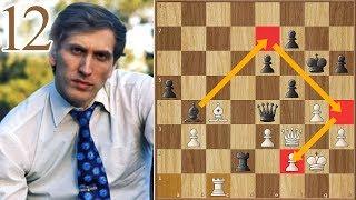 Dark Wine-colored Costume   Fischer vs Spassky   (1972)   Game 12