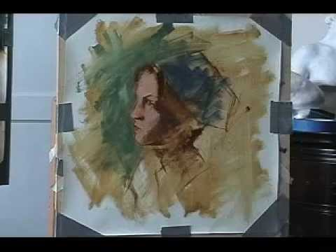 Classical style speed painting of a live model by Jonathan Hardesty