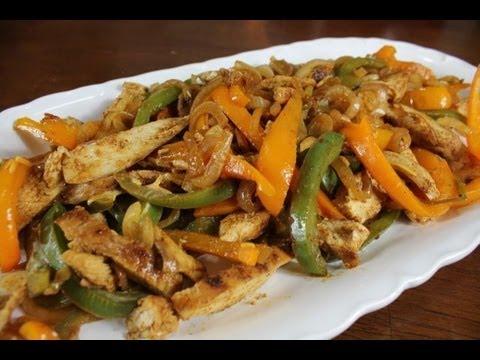 Easy Chicken Fajitas Recipe - YouTube