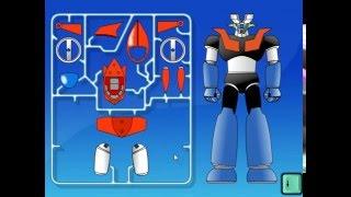 Мультик игра Собирать роботов (Build Mazinger Z)
