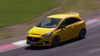 Incredible Opel Corsa GSi driving on the race track