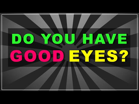 Do you have good EYES? (test with answers)