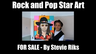 Rock and Pop Star Art FOR SALE by Stevie Riks