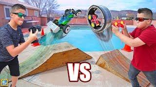 RC Car vs Giant Wheel RC Wheelz Tire Twister Toy!