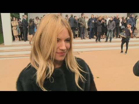 Sienna Miller at LFW Burberry show: Working with boyfriend on advert was so funny!