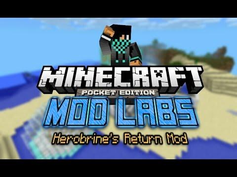 MCPE [0.9.5] MOD LABS: Herobrine's Return Mod