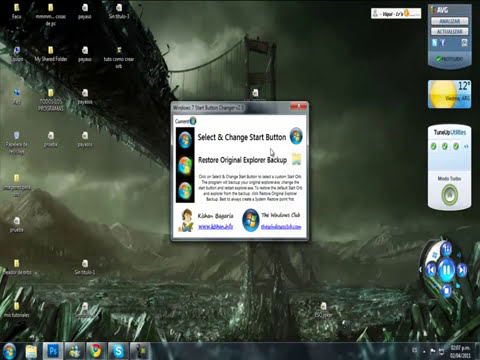 como crear orbs windows 7