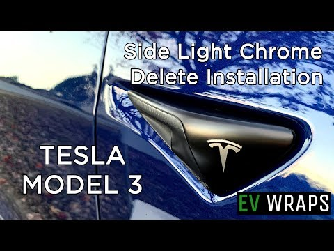 Tesla Model 3 - Side Light Chrome Delete Installation