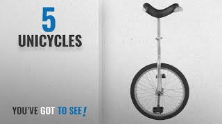 Top 10 Unicycles [2018]: Fun 20 Inch Wheel Chrome Unicycle with Alloy Rim